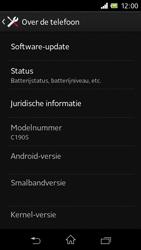 Sony C1905 Xperia M - Software update - update installeren zonder PC - Stap 5