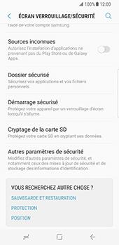 Samsung Galaxy S8 - Sécuriser votre mobile - Personnaliser le code PIN de votre carte SIM - Étape 5