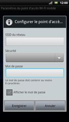 Sony Ericsson Xpéria Arc - Internet et connexion - Partager votre connexion en Wi-Fi - Étape 9