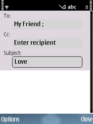 Nokia E75 - Email - Sending an email message - Step 7