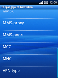 Sony Ericsson Xperia X10 Mini - Mms - Handmatig instellen - Stap 10