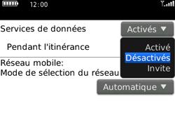 BlackBerry 8520 - Aller plus loin - Désactiver les données à l'étranger - Étape 6
