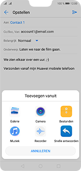 Huawei P20 Lite Dual-SIM (Model ANE-LX1) - E-mail - Bericht met attachment versturen - Stap 10