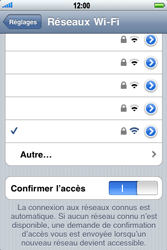 Apple iPhone 3G S - Wifi - configuration manuelle - Étape 6