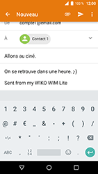 Wiko WIM Lite - E-mails - Envoyer un e-mail - Étape 9
