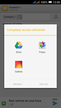Alcatel Pop C9 - Mensajería - Escribir y enviar un mensaje multimedia - Paso 15