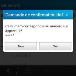 BlackBerry Q5 - Bluetooth - connexion Bluetooth - Étape 10