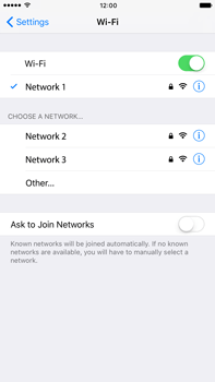 Apple iPhone 6 Plus iOS 10 - Wi-Fi - Connect to a Wi-Fi network - Step 7