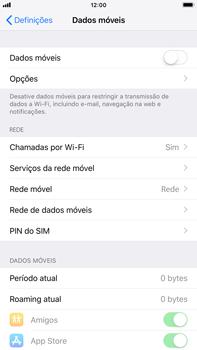 Apple iPhone 8 Plus - iOS 12 - Internet no telemóvel - Como ativar os dados móveis -  4