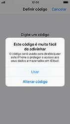 Apple iPhone 5s - iOS 12 - Segurança - Como ativar o código de bloqueio do ecrã -  6