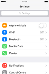 Apple iPhone 4 S iOS 9 - WiFi and Bluetooth - Manual configuration - Step 3