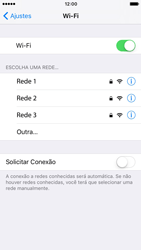 Apple iPhone iOS 10 - Wi-Fi - Como configurar uma rede wi fi - Etapa 5