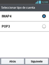 LG Optimus L3 II - E-mail - Configurar correo electrónico - Paso 8