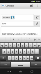 Sony C6603 Xperia Z - Email - Sending an email message - Step 9