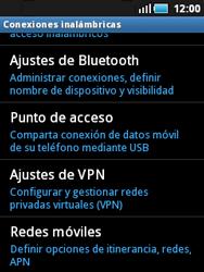 Samsung S5570 Galaxy Mini - Mensajería - Configurar el equipo para mensajes multimedia - Paso 5