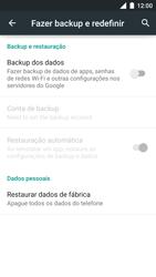 Motorola Moto Turbo - Funções básicas - Como restaurar as configurações originais do seu aparelho - Etapa 7