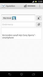 Sony C5503 Xperia ZR - E-mail - Hoe te versturen - Stap 8