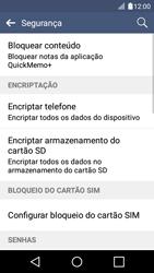 LG K4 - Segurança - Como ativar o código PIN do cartão de telemóvel -  6