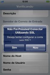 Apple iPhone iOS 5 - Email - Como configurar seu celular para receber e enviar e-mails - Etapa 13