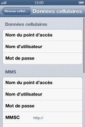 Apple iPhone 4 S iOS 6 - Internet - Configuration manuelle - Étape 7