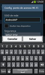 Samsung Galaxy Grand Neo - Wi-Fi - Como usar seu aparelho como um roteador de rede wi-fi - Etapa 8
