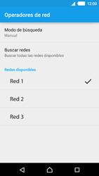Sony Xperia M4 Aqua - Red - Seleccionar una red - Paso 12