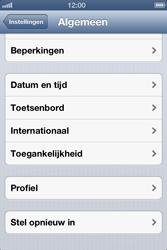 Apple iPhone 4S met iOS 6 (Model A1387) - Instellingen aanpassen - Fabrieksinstellingen terugzetten - Stap 4