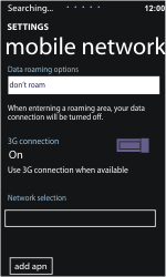 Nokia Lumia 800 - Network - Usage across the border - Step 7