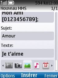 Nokia C2-01 - MMS - envoi d'images - Étape 9