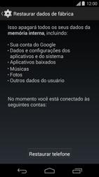 Motorola Moto G - Funções básicas - Como restaurar as configurações originais do seu aparelho - Etapa 8