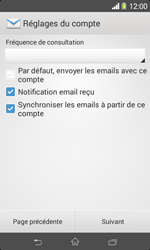 Sony D2005 Xperia E1 - E-mail - Configurer l