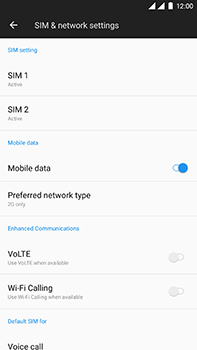 OnePlus 3 - Android Oreo - Network - Change networkmode - Step 8