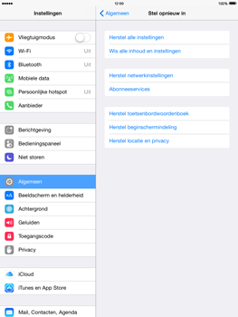 Apple iPad 4th generation iOS 8 - Resetten - Fabrieksinstellingen terugzetten - Stap 5