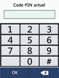 LG T580 - Sécuriser votre mobile - Personnaliser le code PIN de votre carte SIM - Étape 9