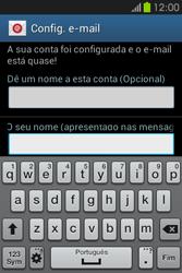 Samsung Galaxy Fame - Email - Configurar a conta de Email -  20