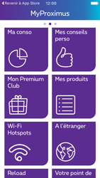 Apple iPhone 5 iOS 9 - Applications - MyProximus - Étape 15