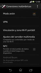 Sony Xperia L - Funciones básicas - Activar o desactivar el modo avión - Paso 6