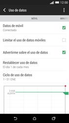 HTC One M8 - Internet - Ver uso de datos - Paso 6