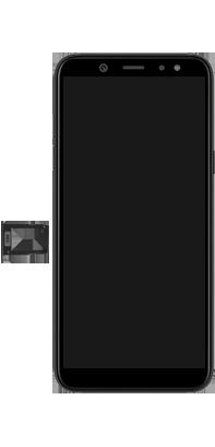 Samsung Galaxy A6 - Appareil - comment insérer une carte SIM - Étape 4