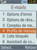 Samsung B2100 Xplorer - E-mail - Configuration manuelle - Étape 6