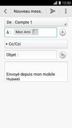 Huawei Ascend Y550 - E-mail - envoyer un e-mail - Étape 7