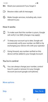 Samsung Galaxy S10 Plus - Applications - Create an account - Step 14