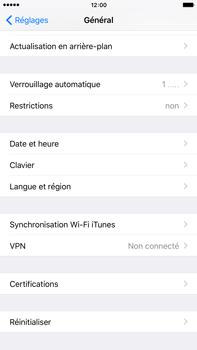 Apple iPhone 6 Plus iOS 9 - Appareil - Réinitialisation de la configuration d