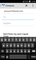 Acer Liquid Z200 - Email - Sending an email message - Step 6
