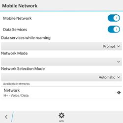 BlackBerry Passport - Network - Usage across the border - Step 6