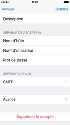 Apple iPhone 5c - E-mail - Configuration manuelle - Étape 24