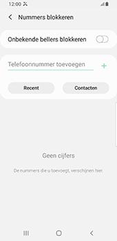 Samsung galaxy-s8-sm-g950f-android-pie - Beveiliging en ouderlijk toezicht - Nummer blokkeren - Stap 8