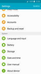 Samsung G920F Galaxy S6 - Device - Reset to factory settings - Step 5
