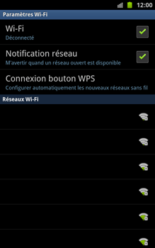 Samsung N7000 Galaxy Note - Wifi - configuration manuelle - Étape 6