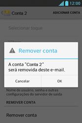 LG Optimus L5 - Email - Como excluir uma conta de e-mail - Etapa 8
